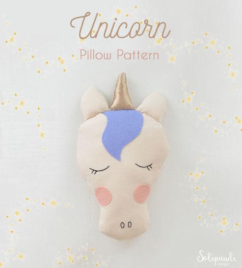Unicorn Pillow Sewing Pattern // Make your own // Toy Pattern (en) bei Makerist - Bild 1