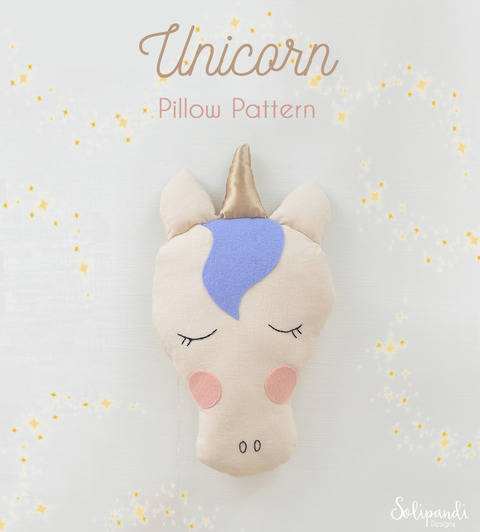 Unicorn Pillow Sewing Pattern // Make your own // Toy Pattern (en) bei Makerist