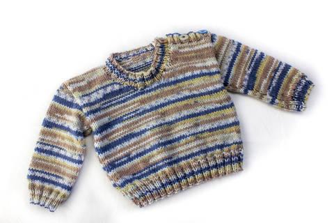 KNITTING PATTERN, Shoulder Buttoned Sweater, 6 Sizes, Baby, Toddler, Kids Sizes, PDF, Easy Kids Pattern, Stylish Boy's Buttoned Sweater (en) bei Makerist