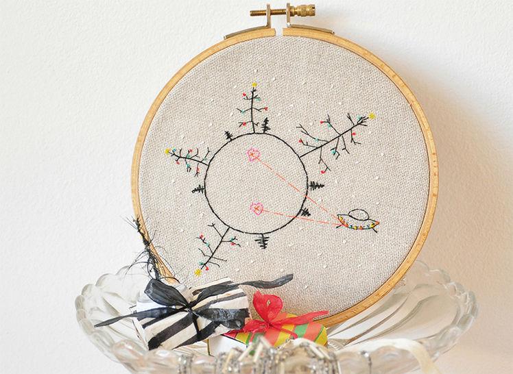 Stickmuster Stickvorlage HEART ATTACK from OUTER SPACE bei Makerist - Bild 1