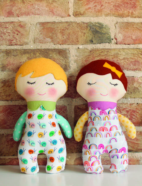 Rag doll sewing pattern tutorial (EN)