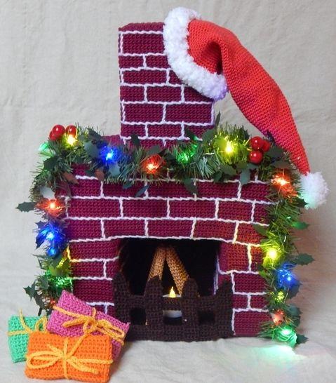 Häkelanleitung Weihnachtlicher Kamin bei Makerist - Bild 1