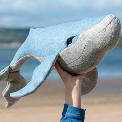Whale toy sewing pattern - PDF instant download (en)