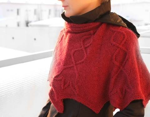 Lily of The Valley - Cabled shawl knitting pattern tutorial at Makerist