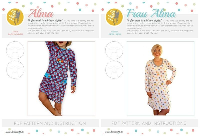 "Set: ""Frau Alma"" and ""Alma"" for kids and women.  at Makerist - Image 1"