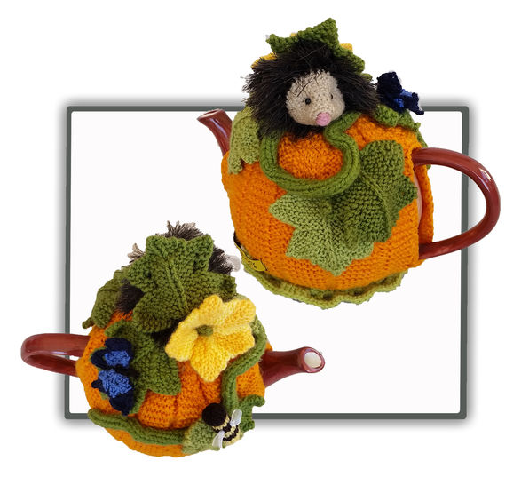 Pumpkin Hedgehog Tea Cosy at Makerist - Image 1