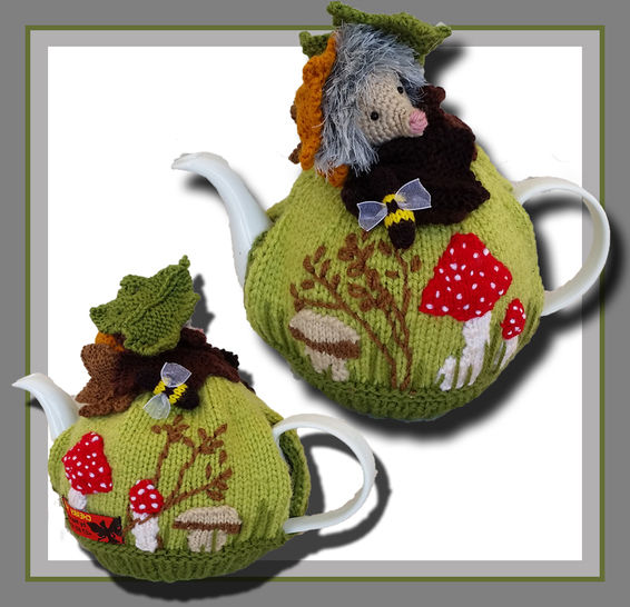 Hedgehog Mushroom Tea Cozy pattern at Makerist - Image 1