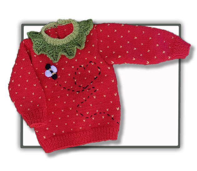 Strawberry Sweater Jumper (3 mths to 4 yrs) at Makerist - Image 1