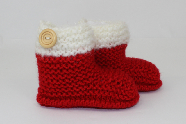 Chunky Baby Christmas Booties
