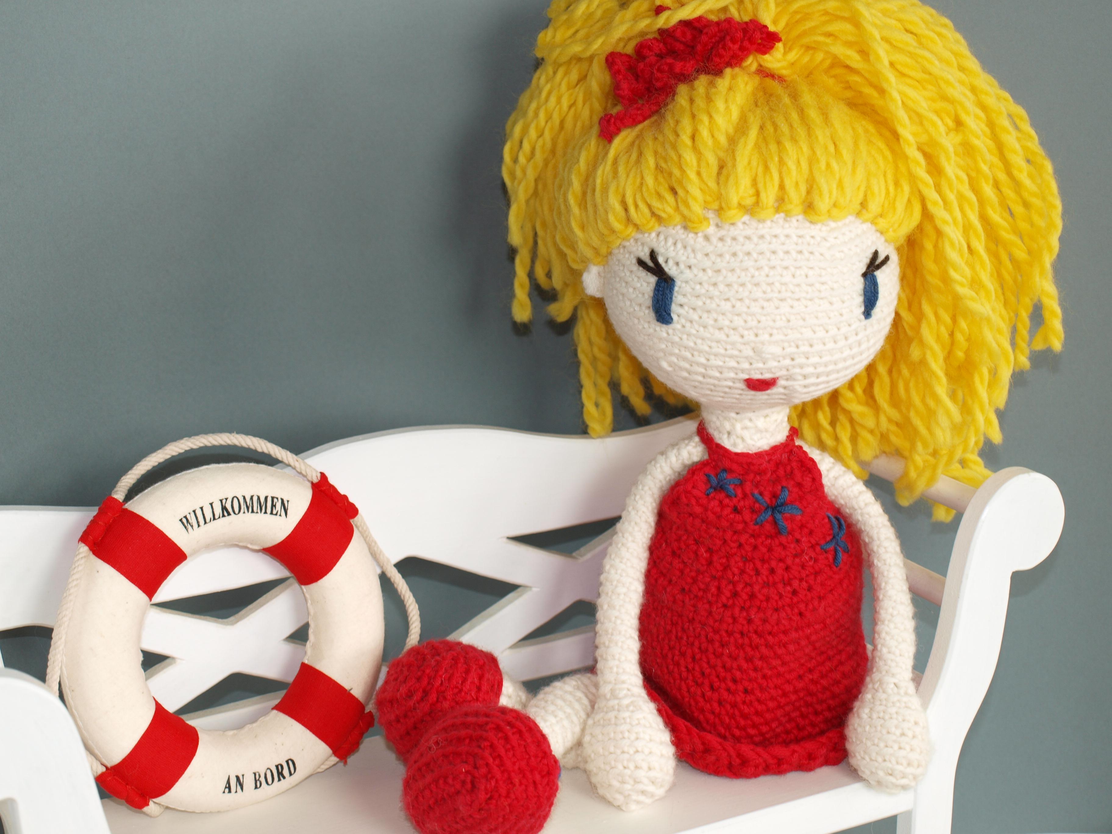 Häkelanleitung Puppe Linda auf Englisch