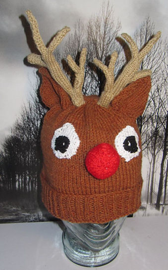 Rudolph Reindeer Christmas Beanie Hat at Makerist - Image 1