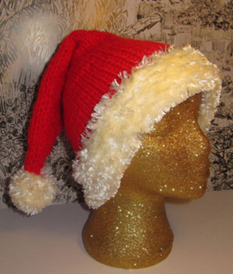 Ho Ho Ho Christmas Santa Beanie Hat at Makerist - Image 1