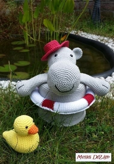 Häkelanleitung Toilettenpapierhut - Hilde the Hippo bei Makerist - Bild 1