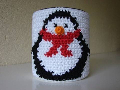 Mug cozy penguin - crochet pattern at Makerist