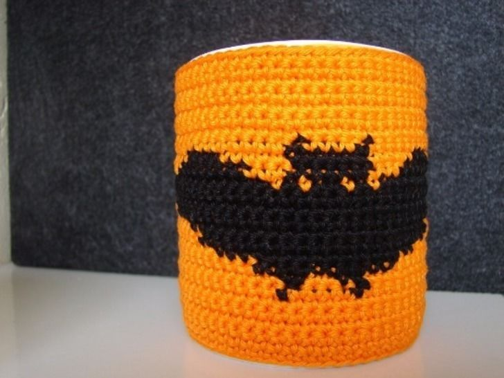 Mug cozy Halloween bat - crochet pattern at Makerist - Image 1