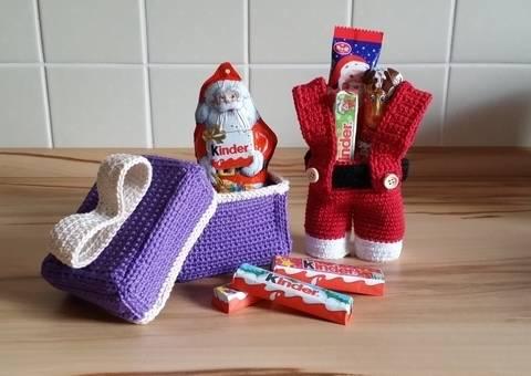 Häkelanleitung Nikolaushose und Geschenkverpackung bei Makerist