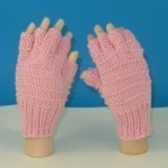 Simple Stripe Short Finger Gloves at Makerist - Image 1