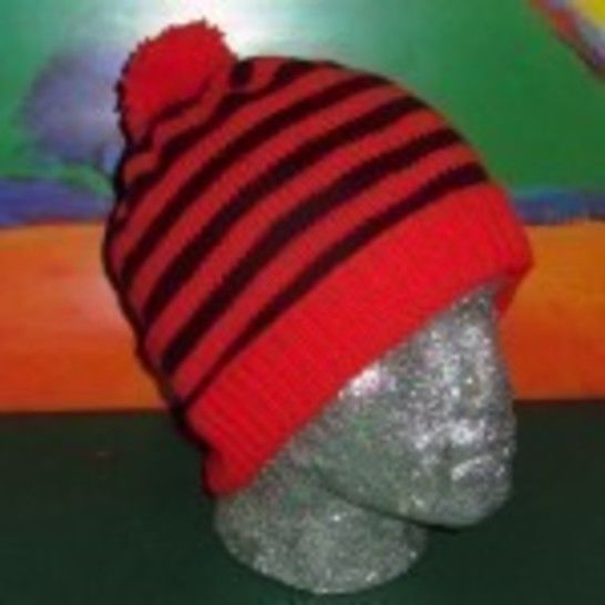 Simple Stripe Bobble Beanie Hat at Makerist - Image 1