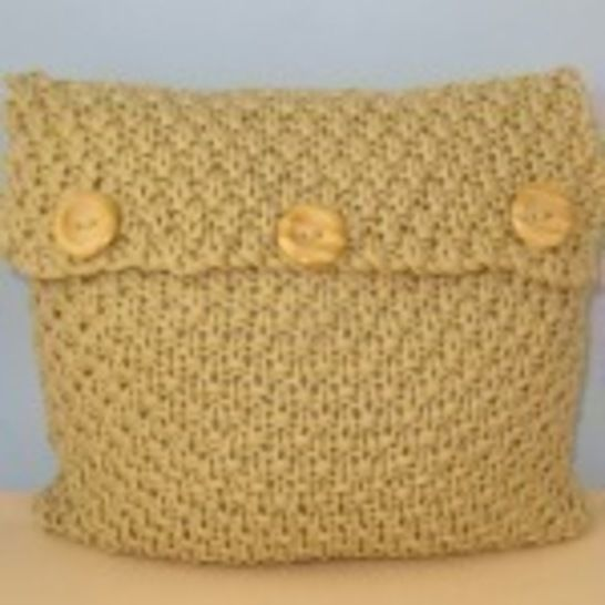 Superfast Double Moss Stitch Cushion Cover -3 sizes at Makerist - Image 1
