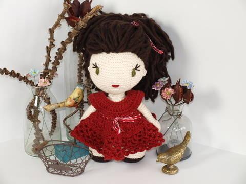 Häkelanleitung Puppe Anna auf Englisch