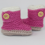 Chunky Baby Fur Trim One Button Booties