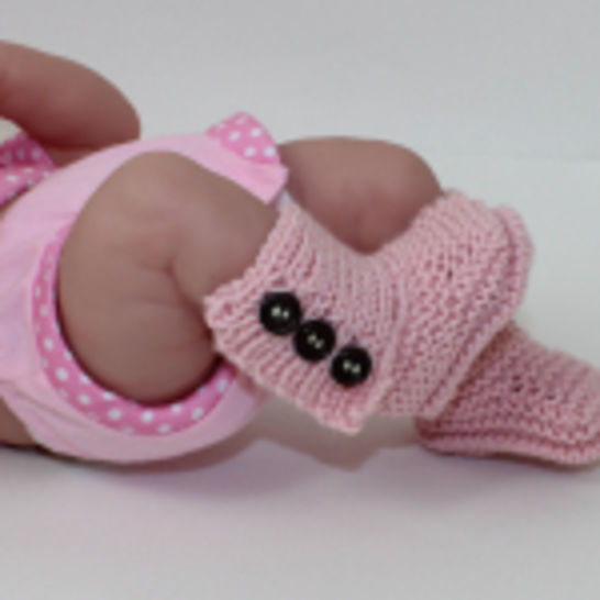 3 Button New Baby Booties at Makerist - Image 1
