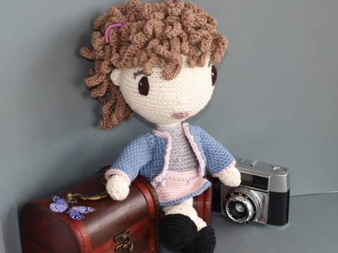 Häkelanleitung Puppe Coco auf Englisch