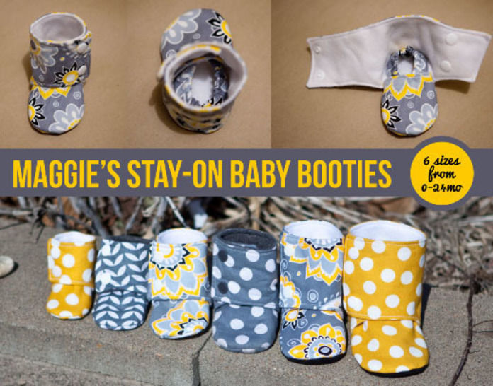 Maggie's Stay-On Baby Booties Sewing Pattern at Makerist - Image 1