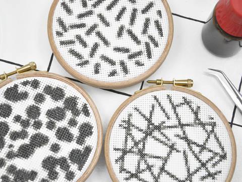 Kreuzstich Stickvorlagen MIKROSKOP  bei Makerist