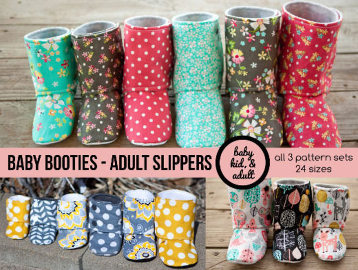 Bootie Pattern Bundle - Baby, Kids, Tween, Adult, doll sizes at Makerist - Image 1