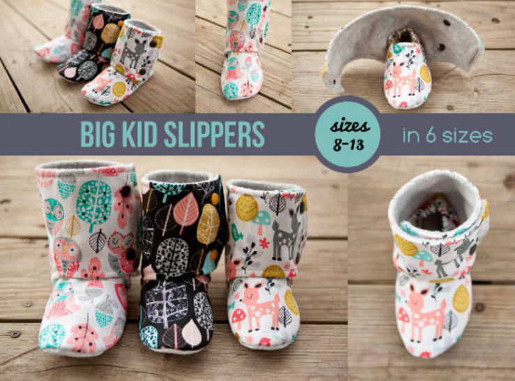 Big Kid Slipper Pattern - Maggie's Booties at Makerist - Image 1
