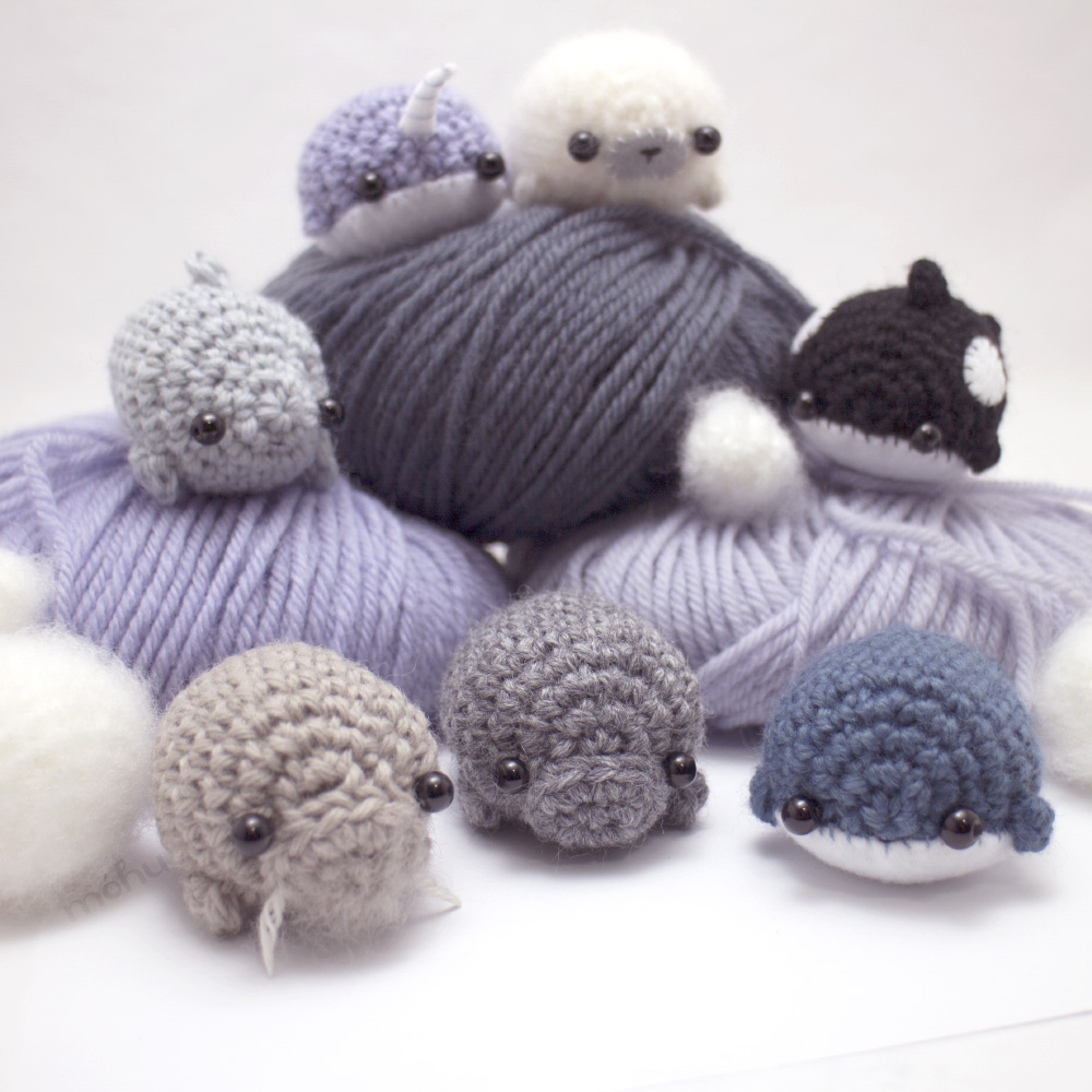 seven sea creatures - amigurumi crochet pattern collection