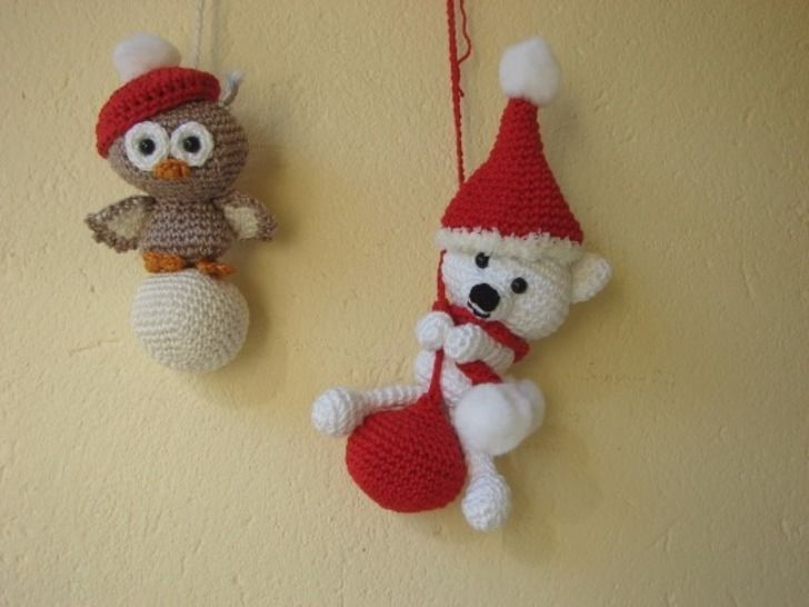 Polar bear and owl amigurumi - crochet pattern at Makerist - Image 1