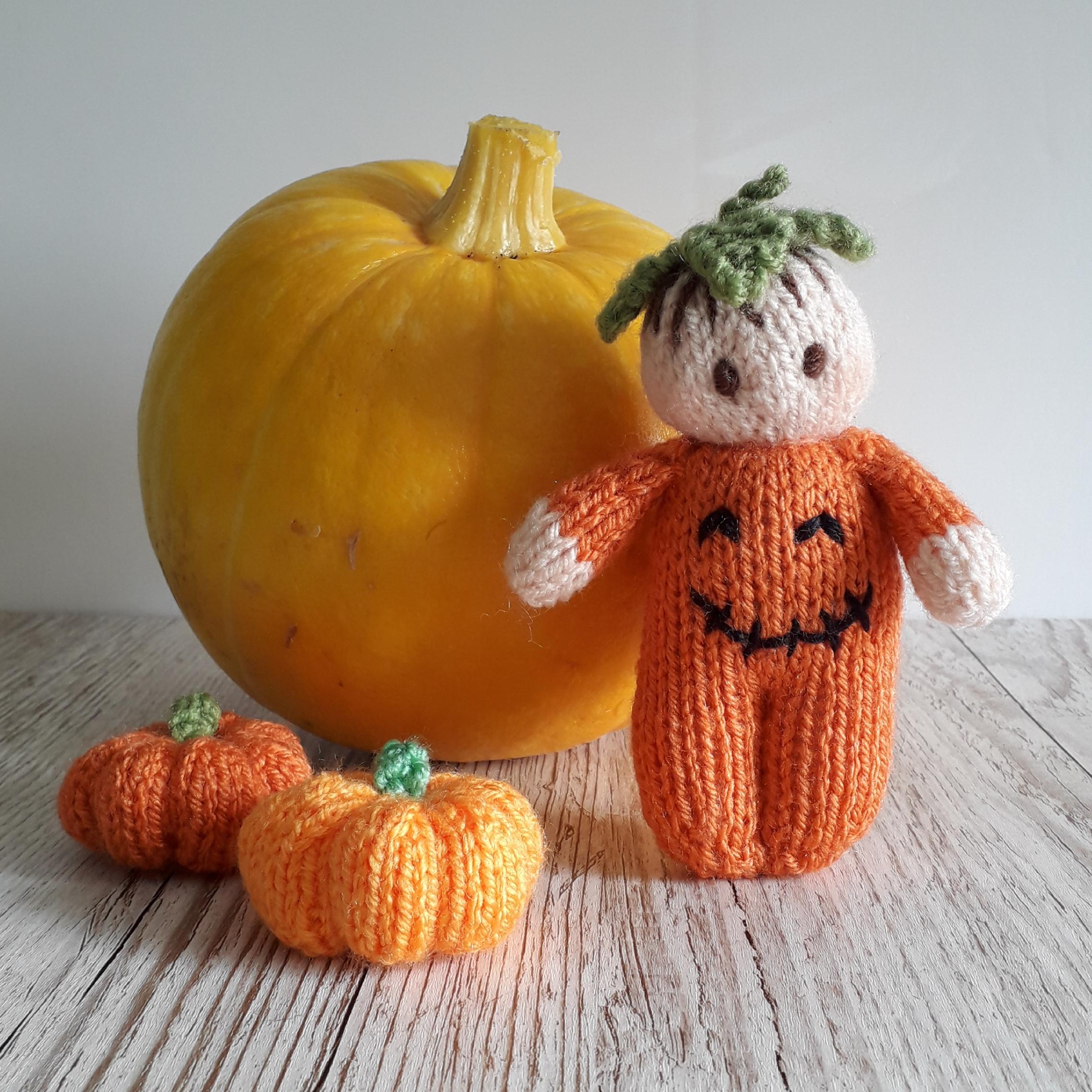 Halloween Bitsy Baby Doll knitting pattern