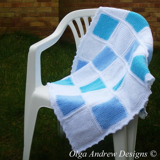 Patchwork baby blanket knit/crochet pattern 042 at Makerist - Image 1