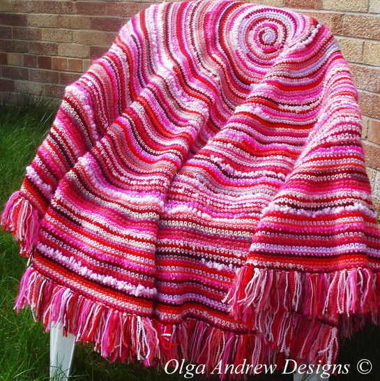 Boho round shawl/wrap/blanket crochet pattern 045 at Makerist - Image 1