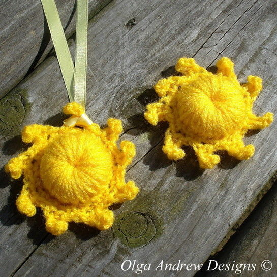 The Sun pendant/brooch crochet pattern 070 at Makerist - Image 1