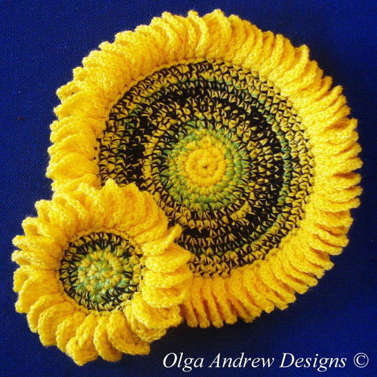 Sunflower doily and coasters crochet pattern 051 at Makerist - Image 1