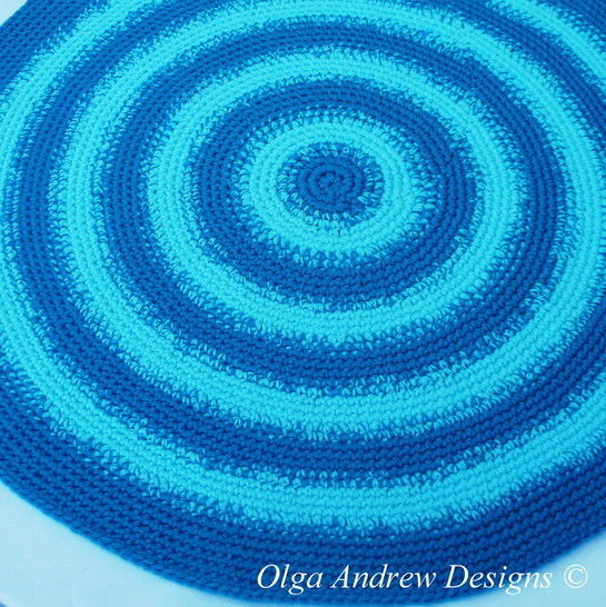 Round rug crochet pattern 041 at Makerist - Image 1