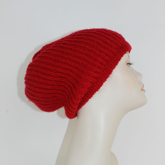 4 Ply Fishermans Rib Slouch Hat CIRCULAR at Makerist - Image 1