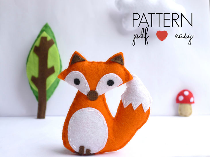 Felt Fox Sewing Pattern at Makerist - Image 1