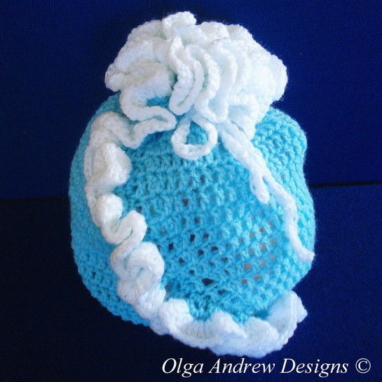 Gift bag with ruffle crochet pattern 009 at Makerist - Image 1