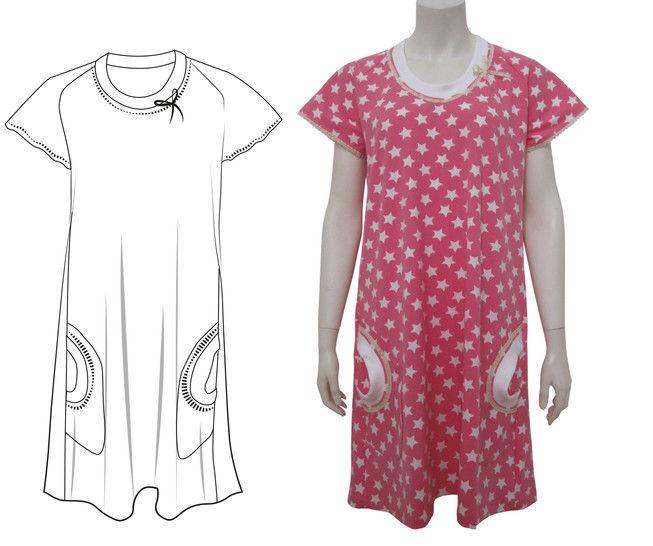 sportliches Longshirt Gr.38-48 langes Shirt Kurzarm kurzer Ärmel bei Makerist - Bild 1