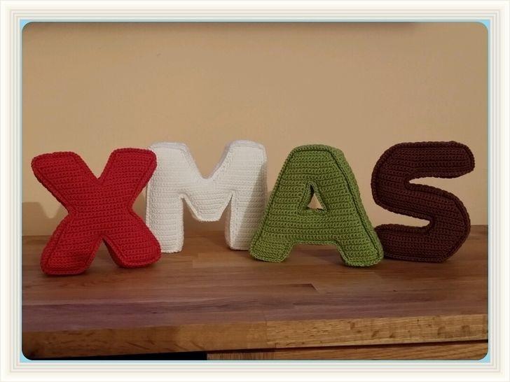Häkelanleitung 3D Buchstaben XMAS bei Makerist - Bild 1
