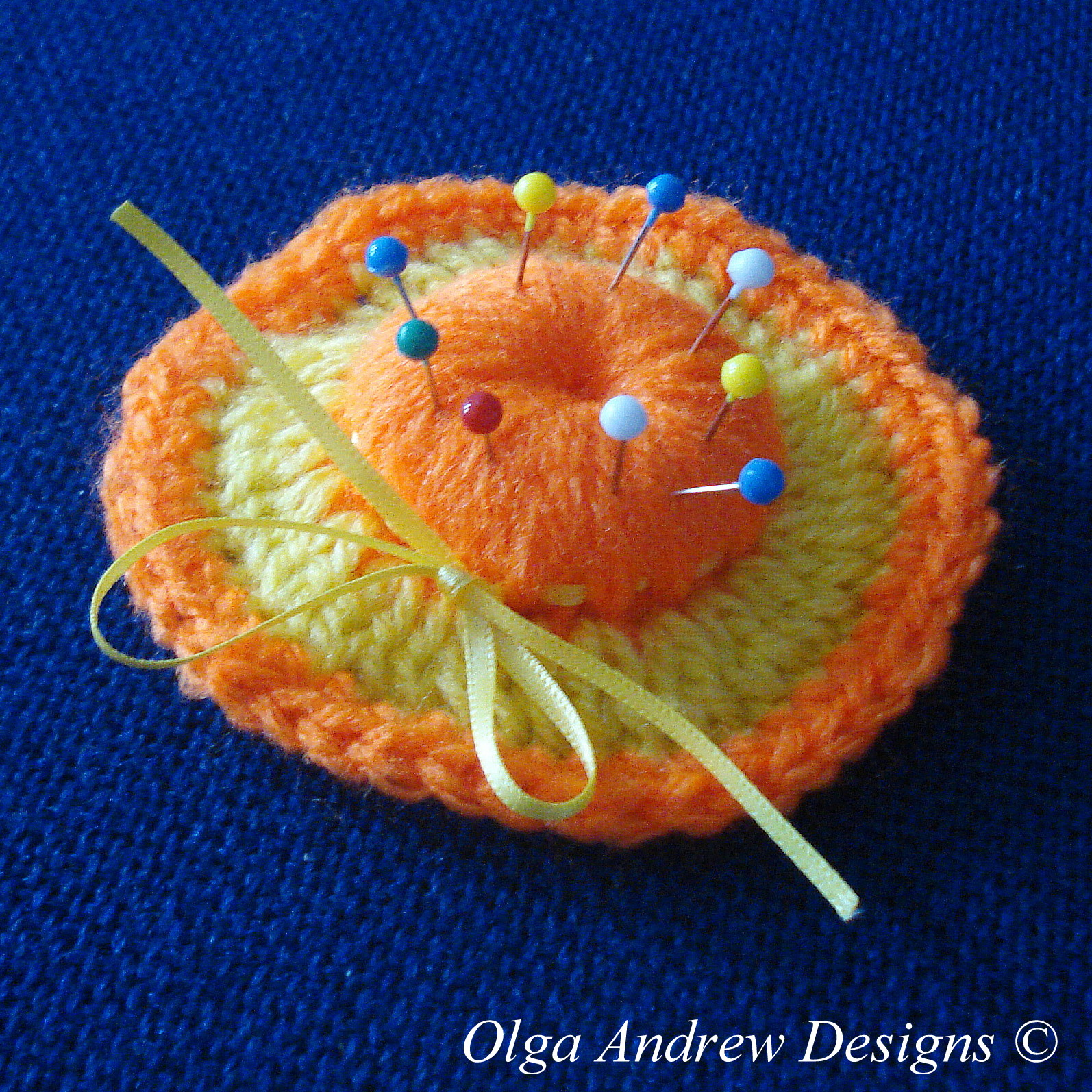 Decorative hat -- pin cushion crochet pattern 028