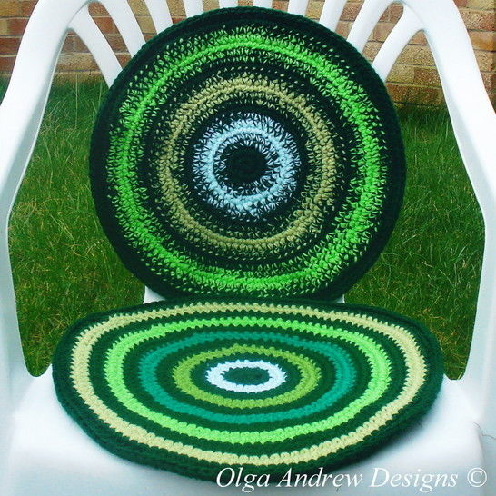 Chair seat cushion/pad crochet pattern 052 at Makerist - Image 1