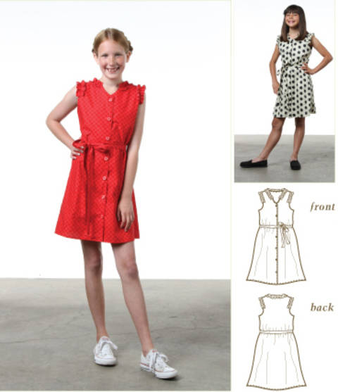 Annie Ruffle Dress Pdf Sewing Pattern for Girls