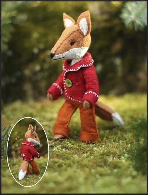 Felix Fox pattern - step-by-step instructions and illustrations