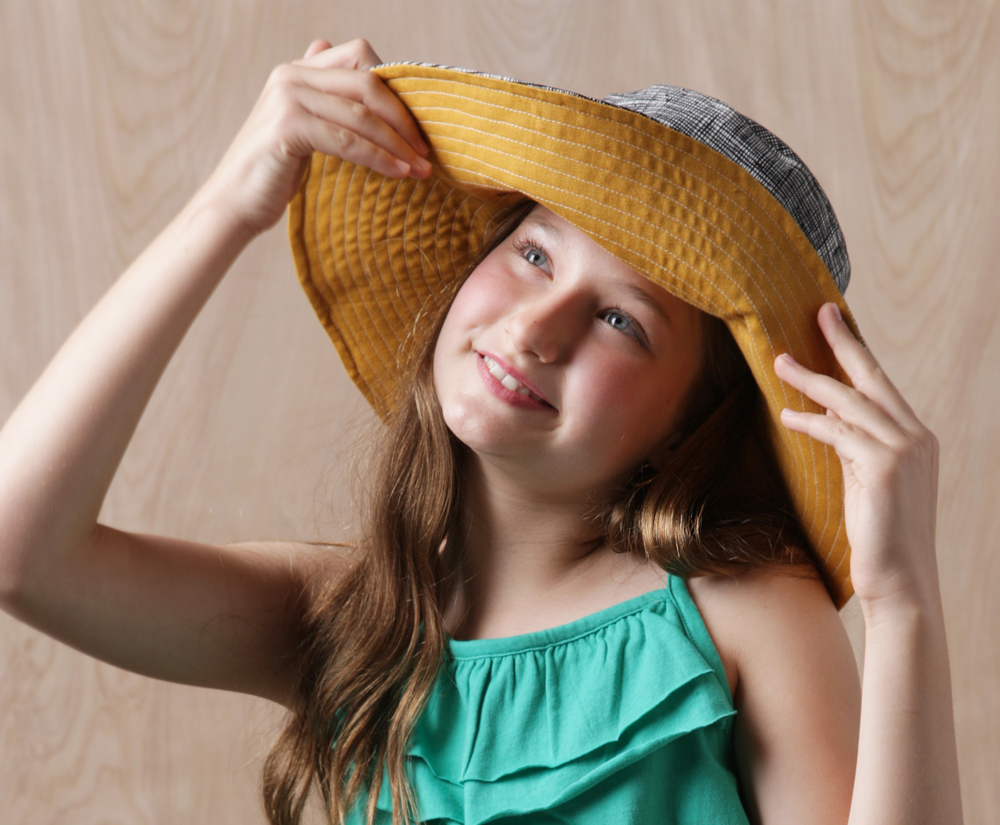 Phoebe Sun Hat Pdf Sewing Pattern for Kids Teens and Adults