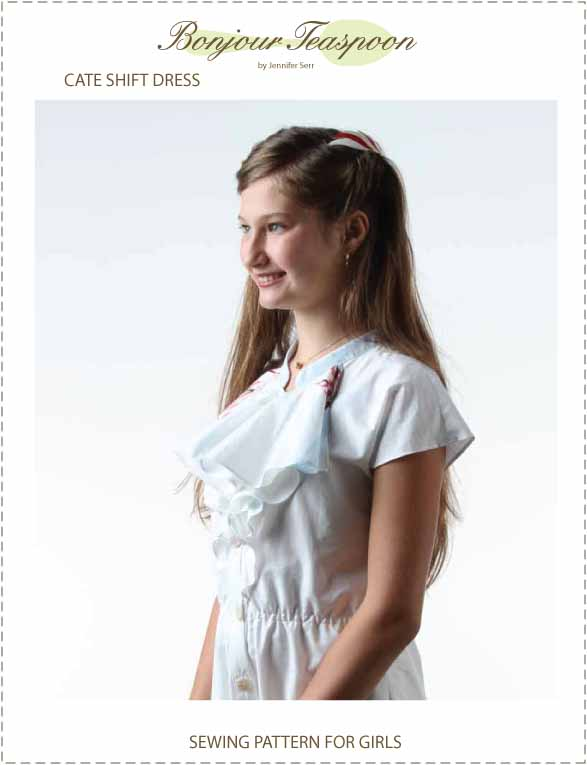 Cate Shift Dress Pdf Sewing Pattern for Girls